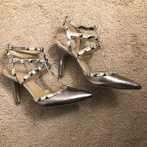 BCBGeneration Shoes - BCBG Silver stud heels